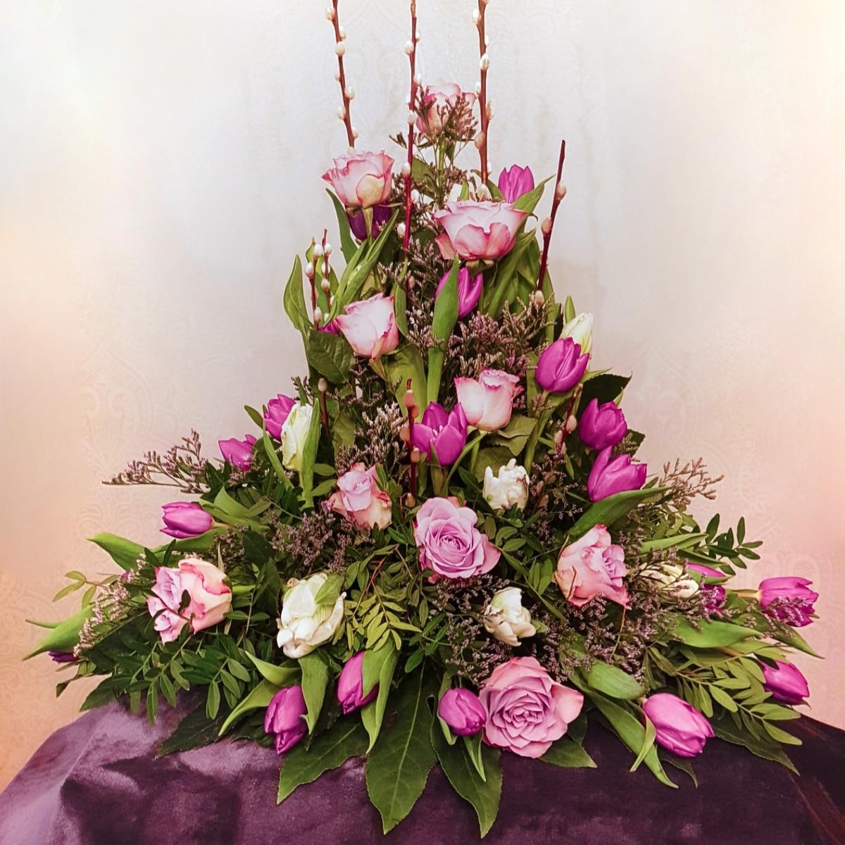 Evighetens Vila Begravningsbyrå Stående Blomsterarrangemang