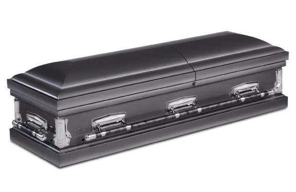 Evighetens Vila Begravningsbyrå Kistan Edson Metal Grey